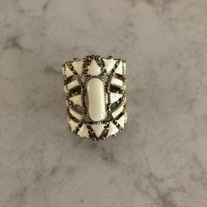 Jewelry - White & Gold Statement Ring